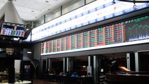 Interior da Bolsa de Valores - BMF Bovespa, no centro da cidade de São Paulo