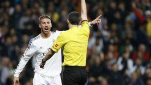 Sergio Ramos é jogador com mais expulsões na história da Champions League
