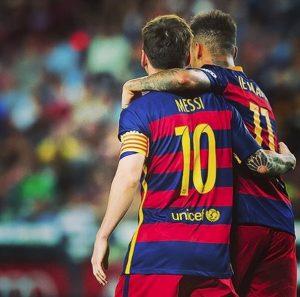 Lionel Messi e Neymar jogaram juntos no Barcelona de 2013 a 2017