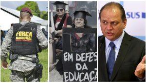 Montagem/Agência Brasil e Facebook (Força Nacional)