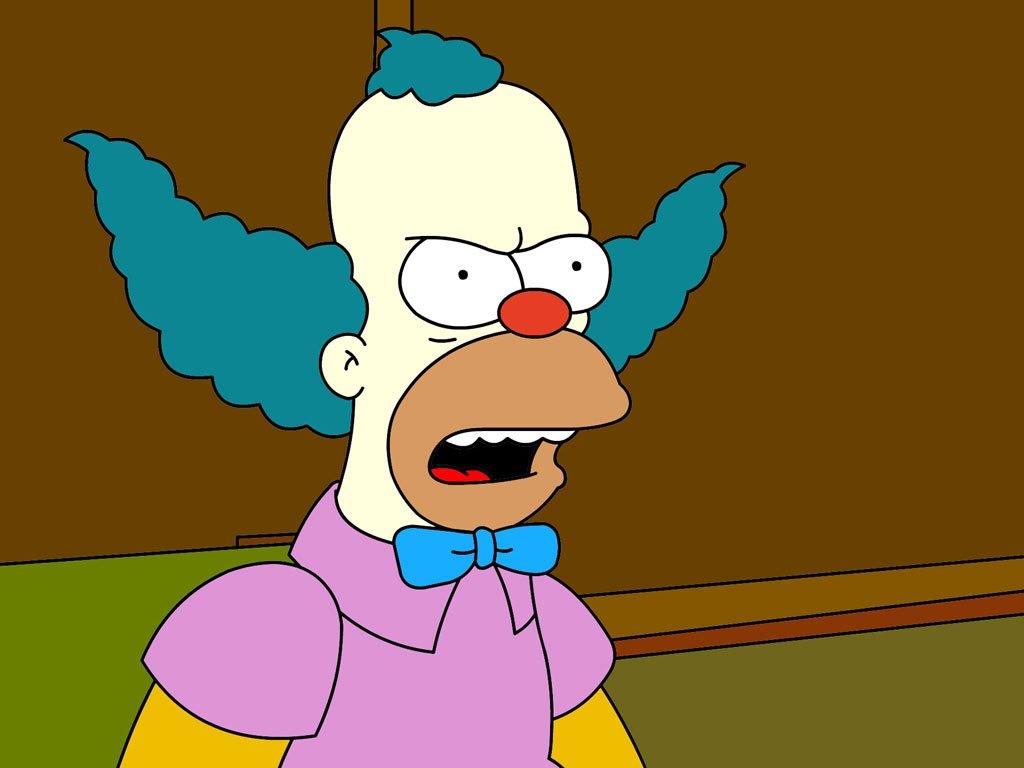 """Palhaço Krusty pode ser o personagem que morrerá na nova temporada de """"Os  Simpsons""""   Jovem Pan"""