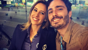 Thiago Rodrigues e Cris quando eram casados