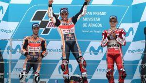 Etapa de Aragão da MotoGP teve pódio espanhol com Marc Márquez, Dani Pedrosa e Jorge Lorenzo
