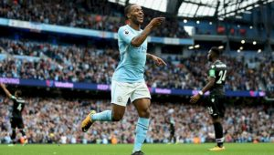 Sterling fez dois gols na goleada danchester City 5 a 0 Crystal Palace