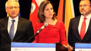 das Relações Exteriores do Canadá, Chrystia Freeland, participa do Toronto Global Forum