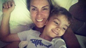 Ana Hickmann com seu filho