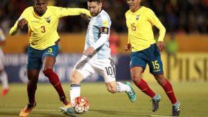 Futebol Eliminatórias Equador Argentina Arboleda Messi