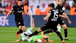 Futebol Campeonato Alemão Bayer Leverkusen Wolfsburg