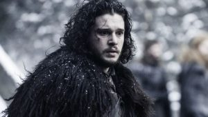 "Kit Harington como Jon Snow em ""Game of Thrones"""