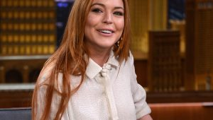 Lindsay Lohan no talk show do Jimmy Fallon
