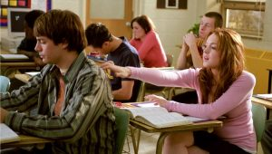"Lindsay Lohan e Jonathan Bennett em ""Meninas Malvadas"""