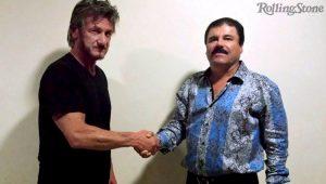 """Sean Penn com El Chapo durante entrevista para a """"Rolling Stone"""""""