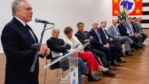 Presidente Michel Temer discursa sobre a Proclamação da República em Itu
