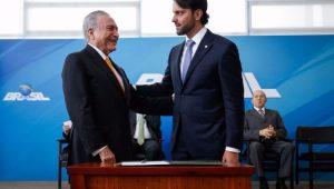 Alexandre Baldy toma posse como novo Ministro das Cidades, no Palácio do Planalto