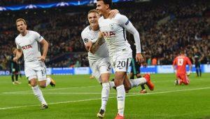 Dele Alli comemora o gol diante do Real Madrid, pela Liga dos Campeões