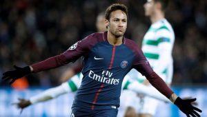 Neymar marcou duas vezes no passeio PSG 7 a 1 Celtic