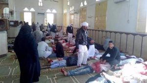 Ataque terrorista contra uma mesquita a oeste da cidade de Al Arish deixa 54 mortos e 75 feridos