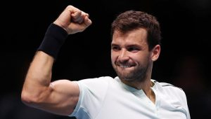 Dimitrov comemora vaga na final do ATP Finals
