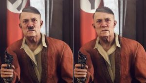 Hitler censurado em Wolfenstein 2