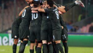 Futebol Liga dos Campeões Manchester City Napoli