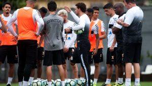 Futebol Santos Treino