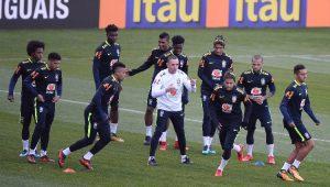 Futebol Amistoso Seleção Brasileira Treino