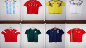 futebol, copa 2018, uniforme, seleções
