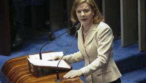Gleisi diz que PT não apoiará Eunício Oliveira no Ceará