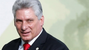 O presidente de Cuba, Miguel Díaz-Canel