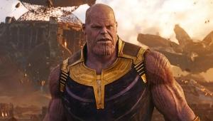 Thanos e Capitã Marvel Guerra Infinita