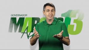 Candidato petista ao governo do Acre esconde vermelho em campanha