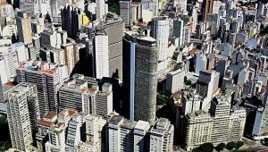 Imagem aérea de prédios em São Paulo