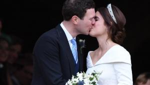 Eugenie de Iorque e o empresário Jack Brooksbank se casaram nesta sexta-feira (12) no castelo de Windsor
