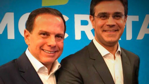 João Doria e Rodrigo Garcia lado a lado