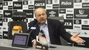 Presidente do Santos elogia Jesualdo, ironiza Sampaoli e critica Atlético-MG