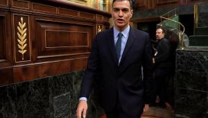 O premiê espanhol. Pedro Sánchez, em sessão no Parlamento da Espanha nesta quarta-feira (13)