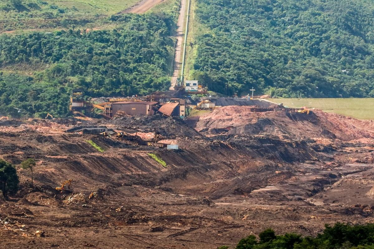 Imagem do destroços da barragem de Brumadinho