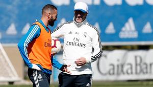 Zidane reencontrou velhos conhecidos, como Benzema