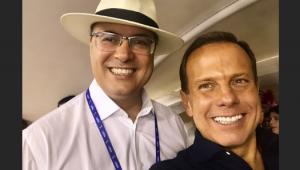 Doria vai ao carnaval do Rio de Janeiro e almoça com Witzel