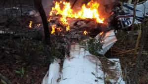 Avião caiu em Santa Maria, região leste de Campo Grande, no Mato Grosso do Sul