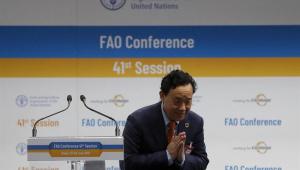 O vice-ministro de Agricultura da China, Qu Dongyu, venceu neste domingo as eleições para dirigir a FAO