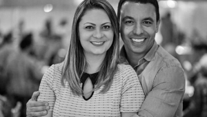 Rogério Lins e a esposa, Aline, tiveram cerca de 14% do corpo queimado na explosão