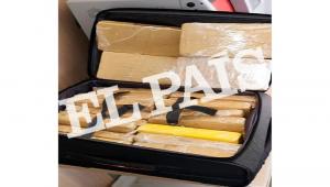 Mala com 39 kg de cocaína foi apreendida com militar brasileiro