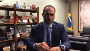 O deputado federal Eduardo Bolsonaro (PSL-SP) publicou um vídeo no YouTube defendendo seu nome para o cargo de embaixador do Brasil nos Estados Unidos
