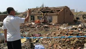 Um tornado atingiu o nordeste da China nesta quarta-feira (3) e matou 6 pessoas e feriu outras 200