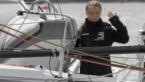 Greta Thunberg barco sustentável