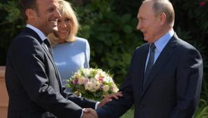 Vladimir Putin e Emmanuel Macron