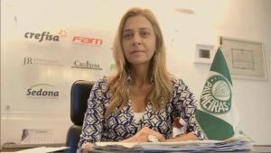 Leila Pereira reafirma comprometimento com o Palmeiras após saída de Mattos