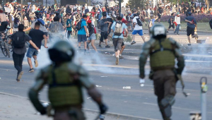 Quase 200 pessoas já sofreram ferimentos oculares durante os protestos no Chile