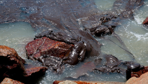 Substância oleosa nas praias do Nordeste